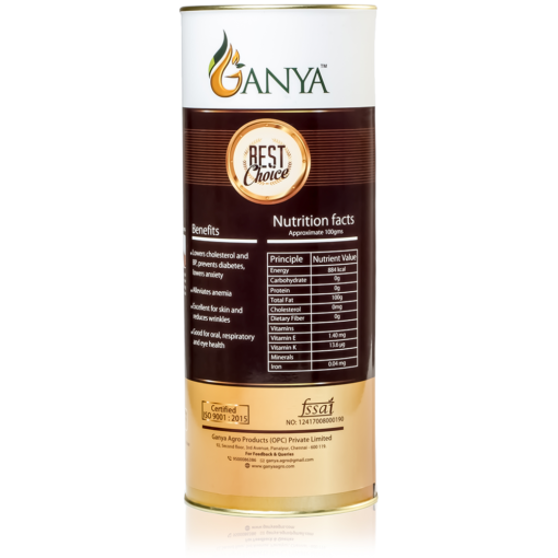 Ganya Cold Pressed Sesame Oil 1000ml Label
